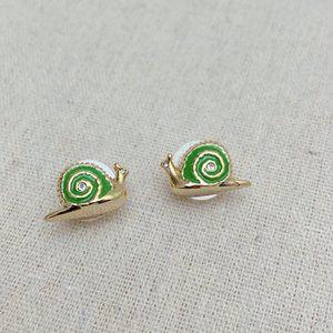 Kate Spade 'lawn party' snail stud earrings